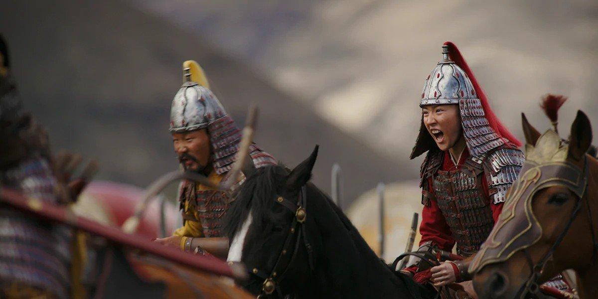 Mulan riding into battle