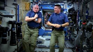 "Astronauts Scott Kelly and Lindgren During ""The Martian"" Q&A"