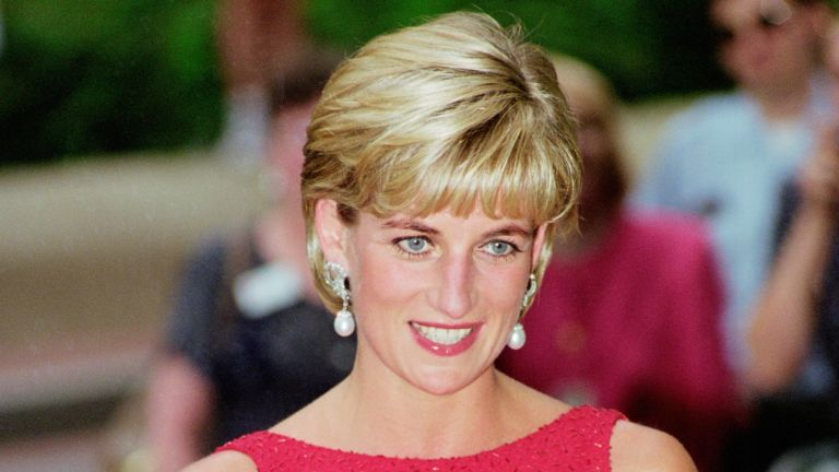 Diana, Princess of Wales attends a fund raising gala dinner for the American Red Cross in Washington