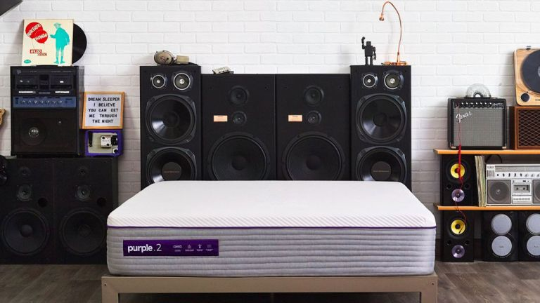 The New Purple Mattress: on bed in bedroom