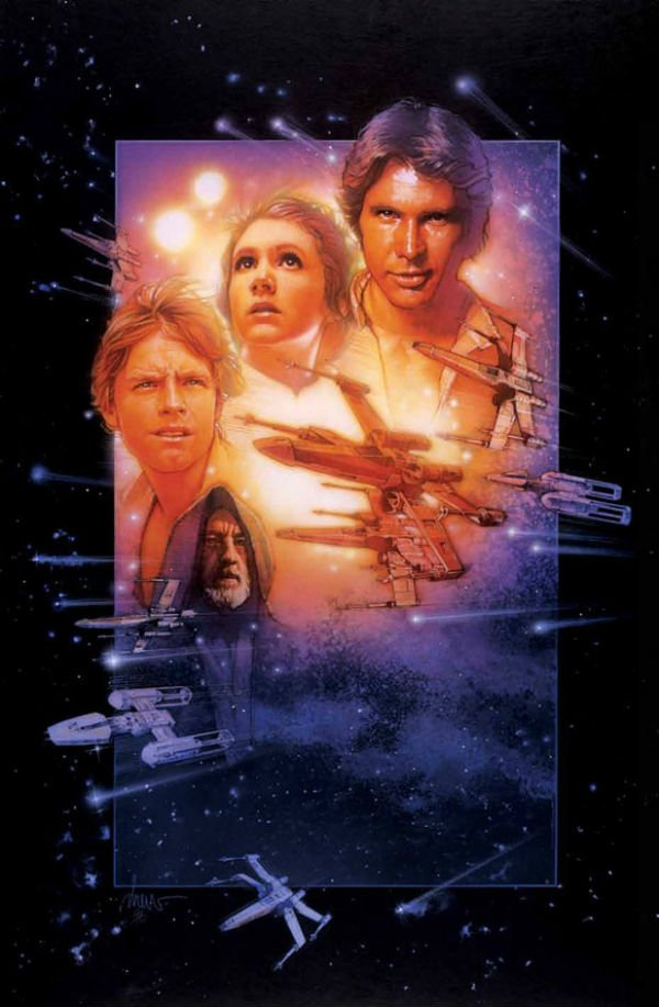 star wars the force awakens gets a drew struzan poster and it is