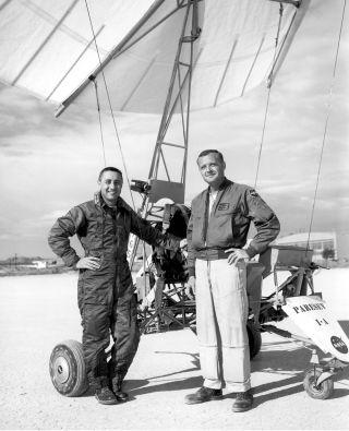 space history, hang gliding, parachutes, Rogers Dry Lakebed, NASA
