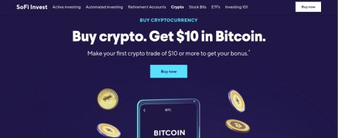 Screenshot of the SoFi Invest platform
