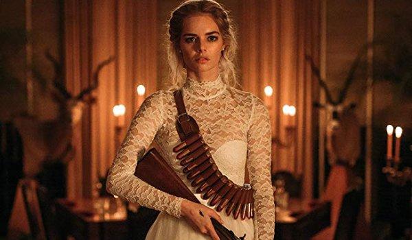 Ready Or Not Samara Weaving armed in a wedding dress