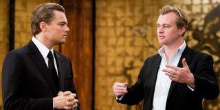 Christopher Nolan on the set of Inception with Leonardo DiCaprio