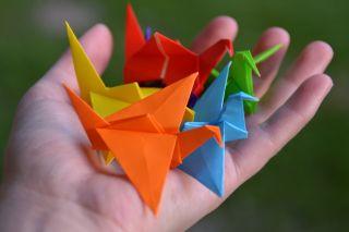 origami, mathematics, paper folding