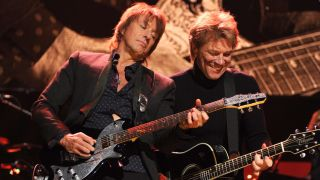 Sambora and Bon Jovi on stage in 2012