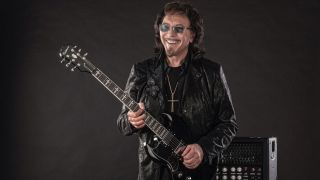 Tony Iommi with signature Epiphone SG