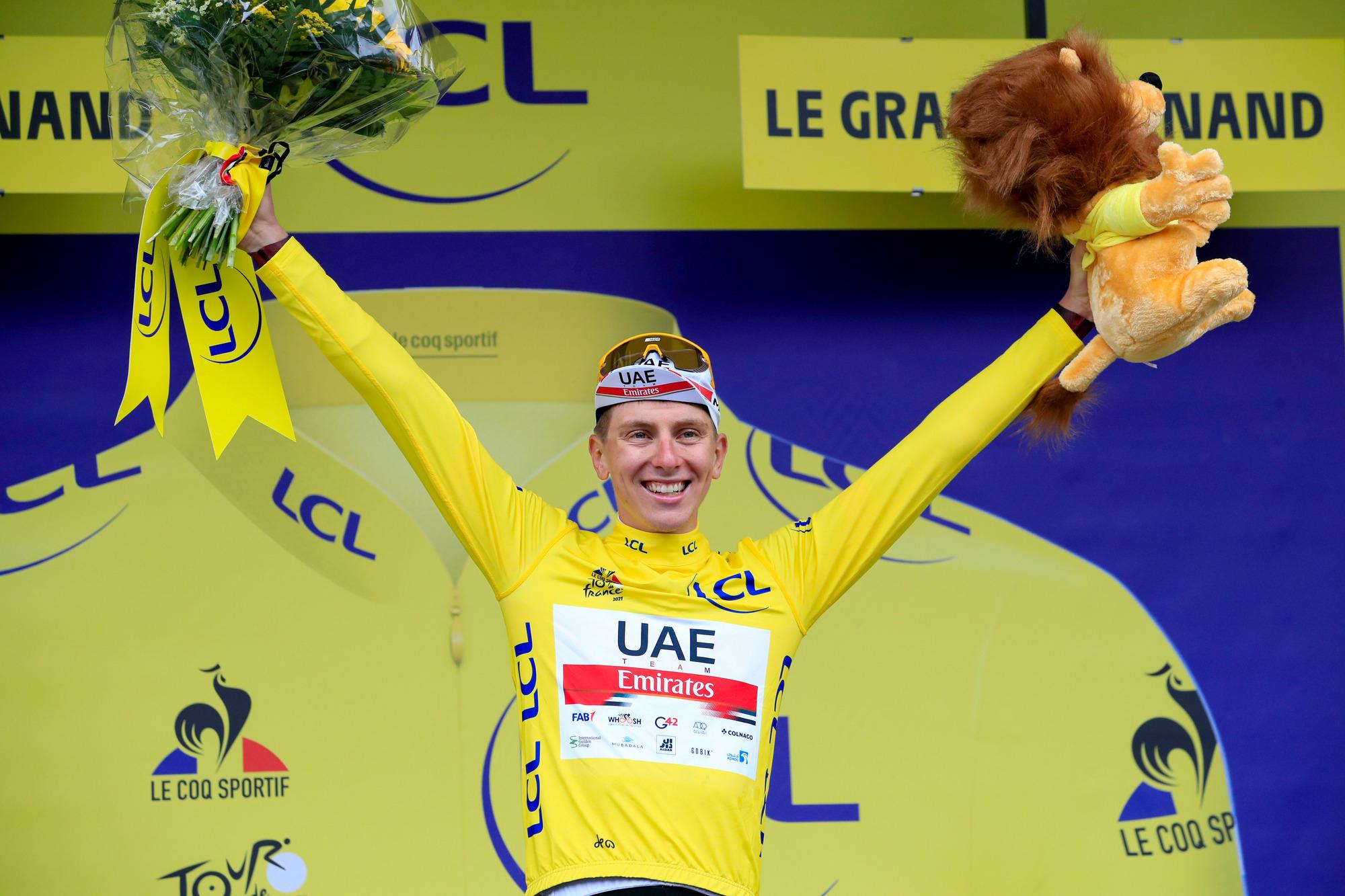Tour de France 2021 108th Edition 8th stage Oyonnax Le GrandBornand 1508 km 03072021 Tadej Pogacar SLO UAE Team Emirates photo Luca BettiniBettiniPhoto2021