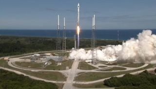 Atlas 5 GPS 2F-8 takes off from launch pad