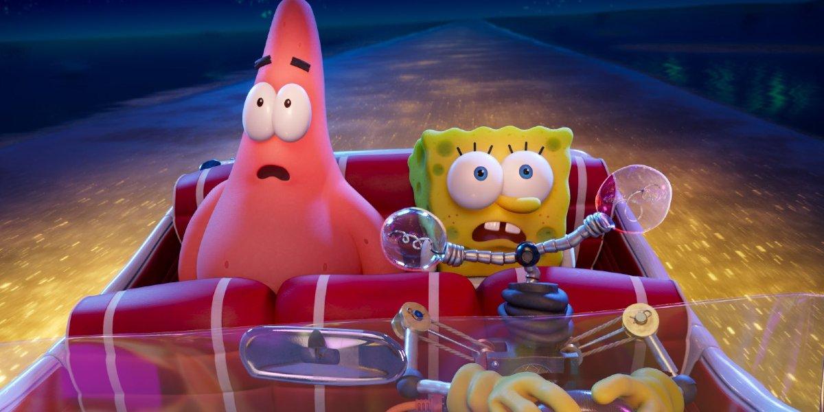 Patrick and Sponge Bob in The SpongeBob Movie: Sponge on the Run