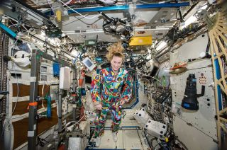 Kate Rubins aboard the International Space Station