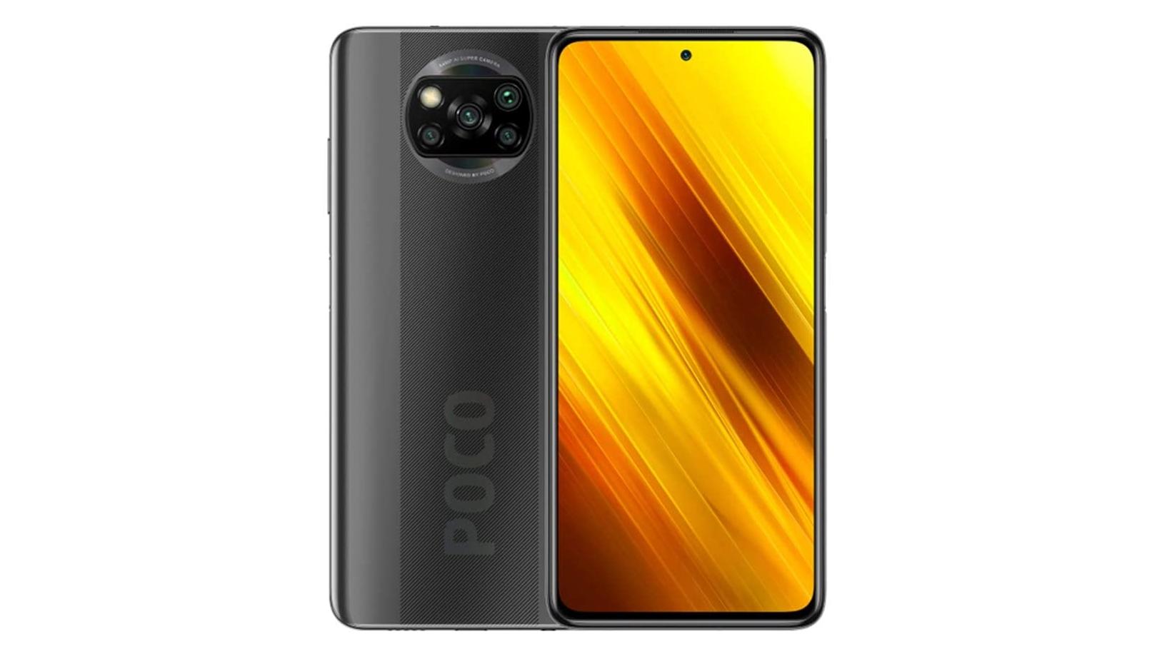 A Xiaomi Poco X3 NFC against a white background