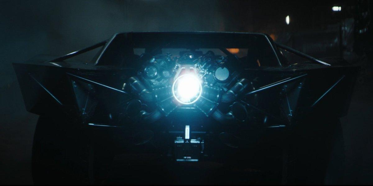 The Batmobile revs up in The Batman