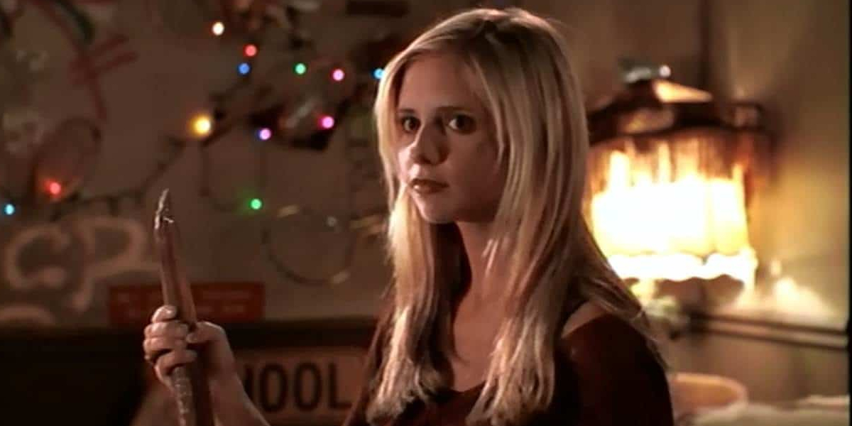 Sarah Michelle Gellar as Buffy Summers on Buffy the Vampire Slayer