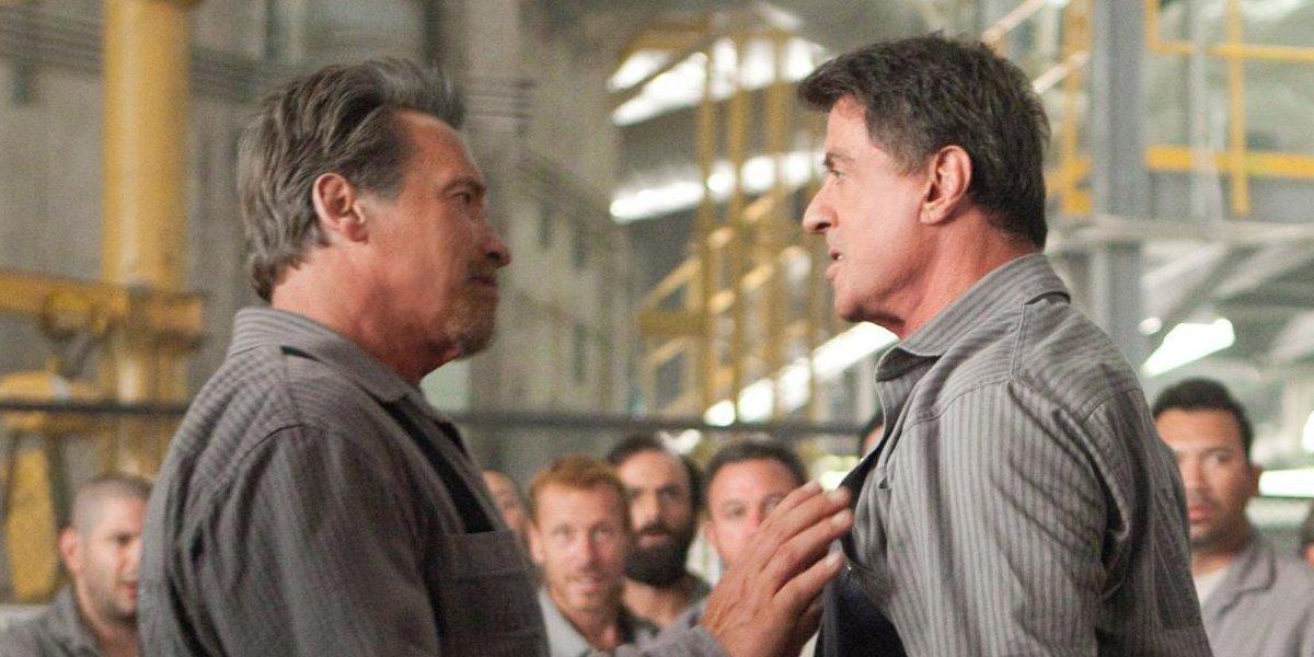 Arnold Schwarzenegger and Sylvester Stallone in Escape Plan
