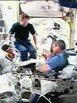Space Station Astronauts Ready for Mission's First Spacewalk
