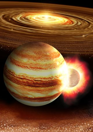 Jupiter's Strange Core May Have Been Forged by a Colossal Head-On Crash