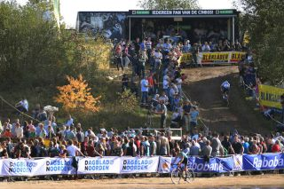 The crowds are always out in force for the opening round of the Superprestige cyclocross series in sandy Gieten, in the Netherlands
