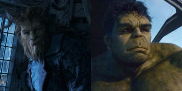 Dan Stevens' Beast and Mark Ruffalo's Hulk