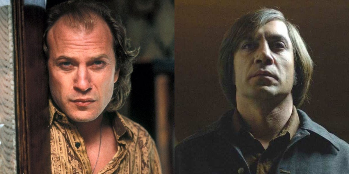 Ted Levine on the left, Javier Bardem on the right