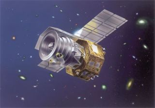 An artist's conception of the Japanese Aerospace Exploration Agency's Akari infrared space telescope.