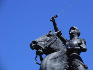 joan of arc statue at legion of honor