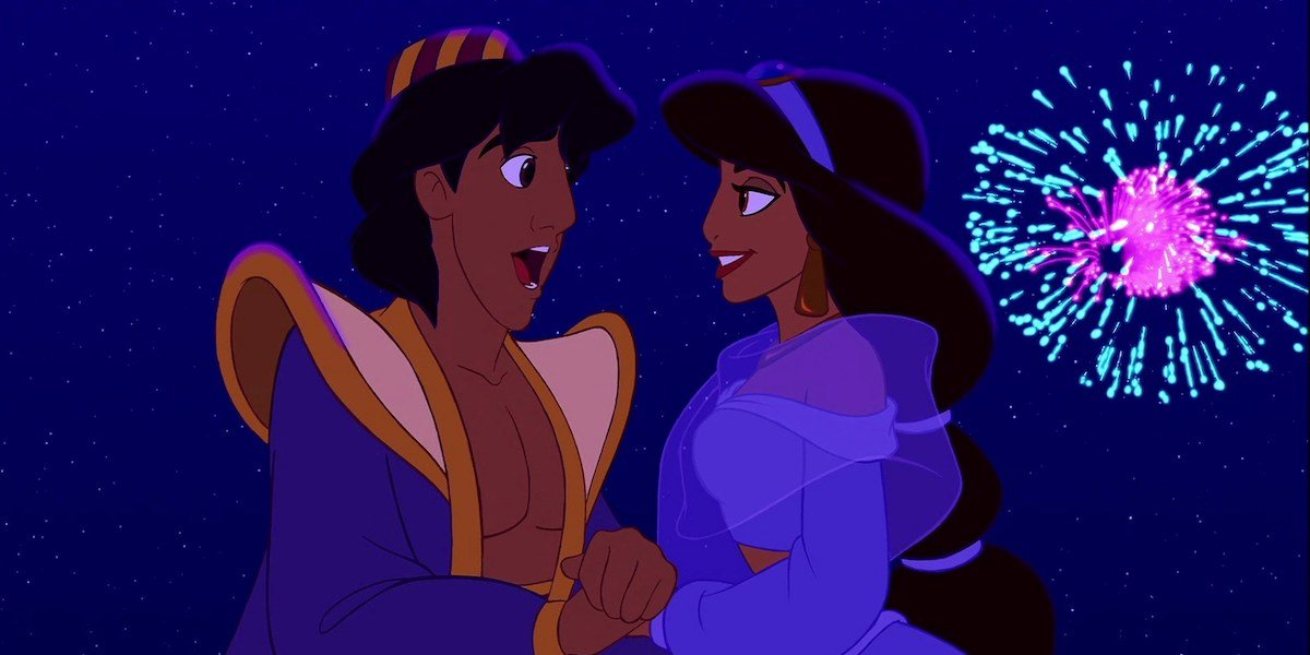 Aladdin and Jasmine, A Whole New World 1992 end of movie