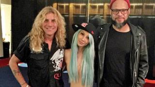 A photo of Steven Adler, Melissa Reese and Frank Ferrer taken after Guns N' Roses' Nashville show on July 9, 2016