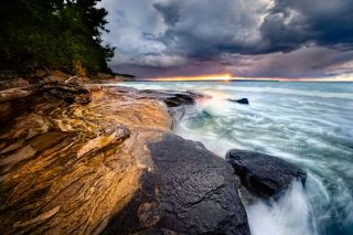 "The Pictured Rocks National Lakeshore in Michigan. This was one of the winning photographs from the 2012 ""Share the Experience"" competition, of photos from public lands around the U.S."