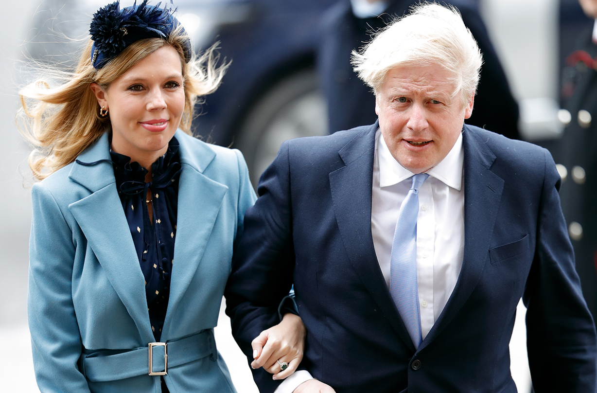 boris johnson fiancee carrie symonds self isolating coronavirus
