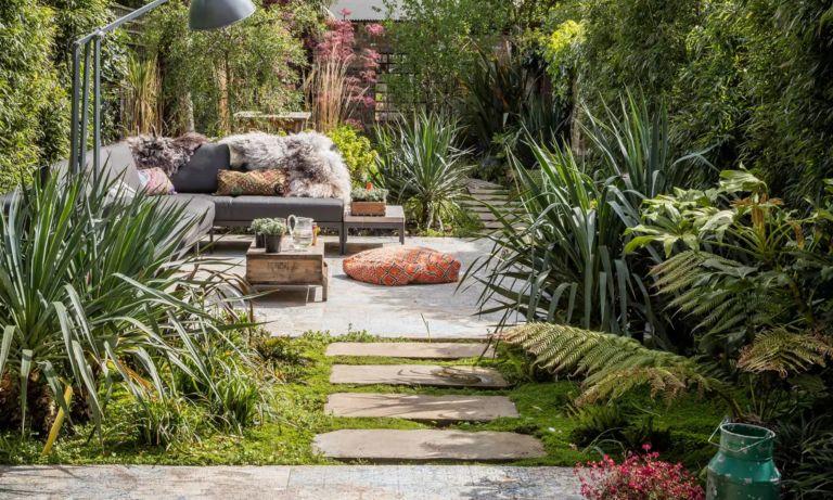 expert broken plan garden tips – A broken plan garden with path