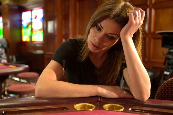Alison King plays Carla Connor, who is struggling with a gambling problem