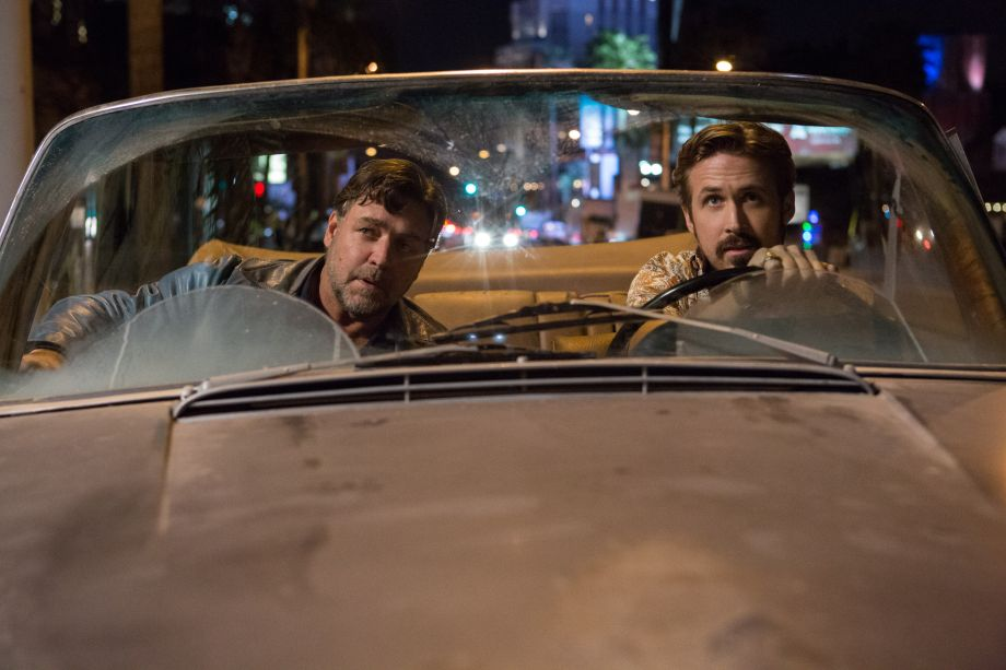 Russell Crowe and Ryan Gosling drive around LA