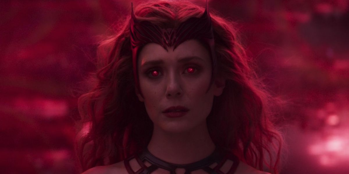 The Scarlet Witch after her transformation