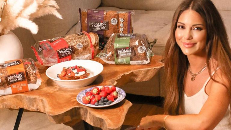 Louise Thompson with some of her favorite gluten-free products
