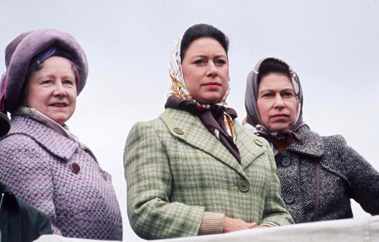 Queen Mother With Queen And Princess Margaret At Badminton