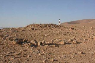Syria, aligned rocks