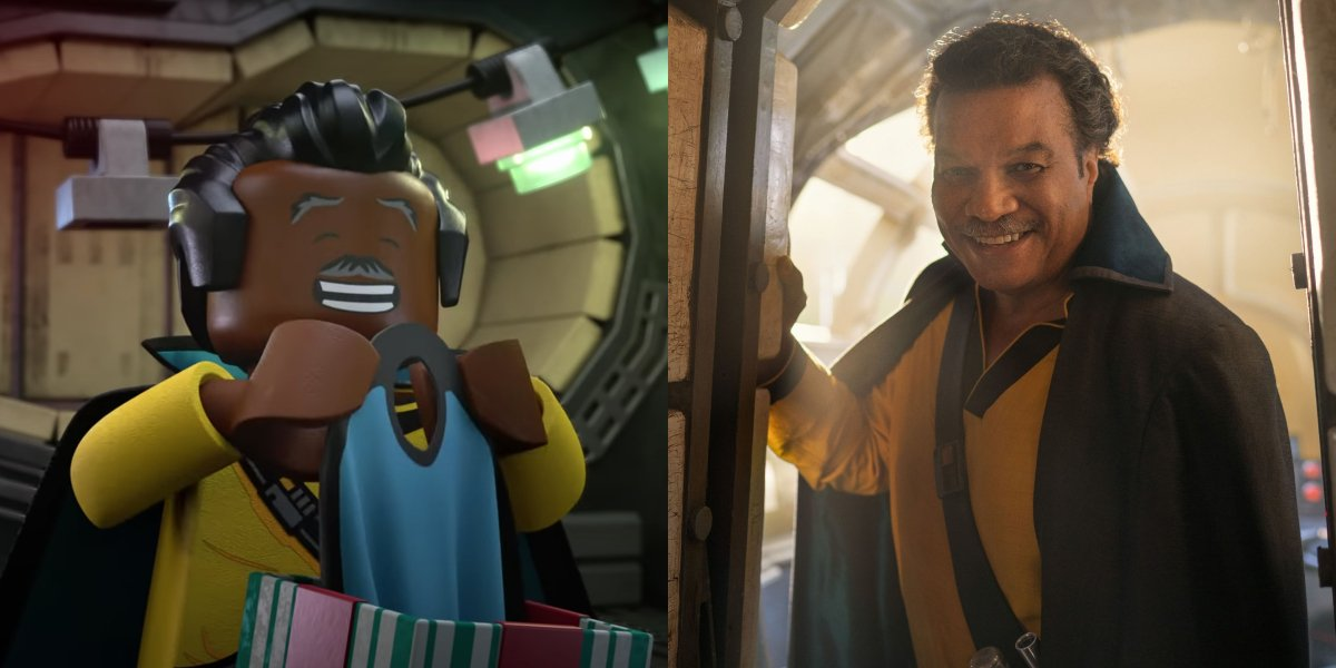 Lando in LEGO Star Wars Holiday Special; Billy Dee Williams in Star Wars: The Rise of Skywalker