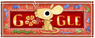 Google doodle celebrates lunar new year as astronaut photographs Beijing from space