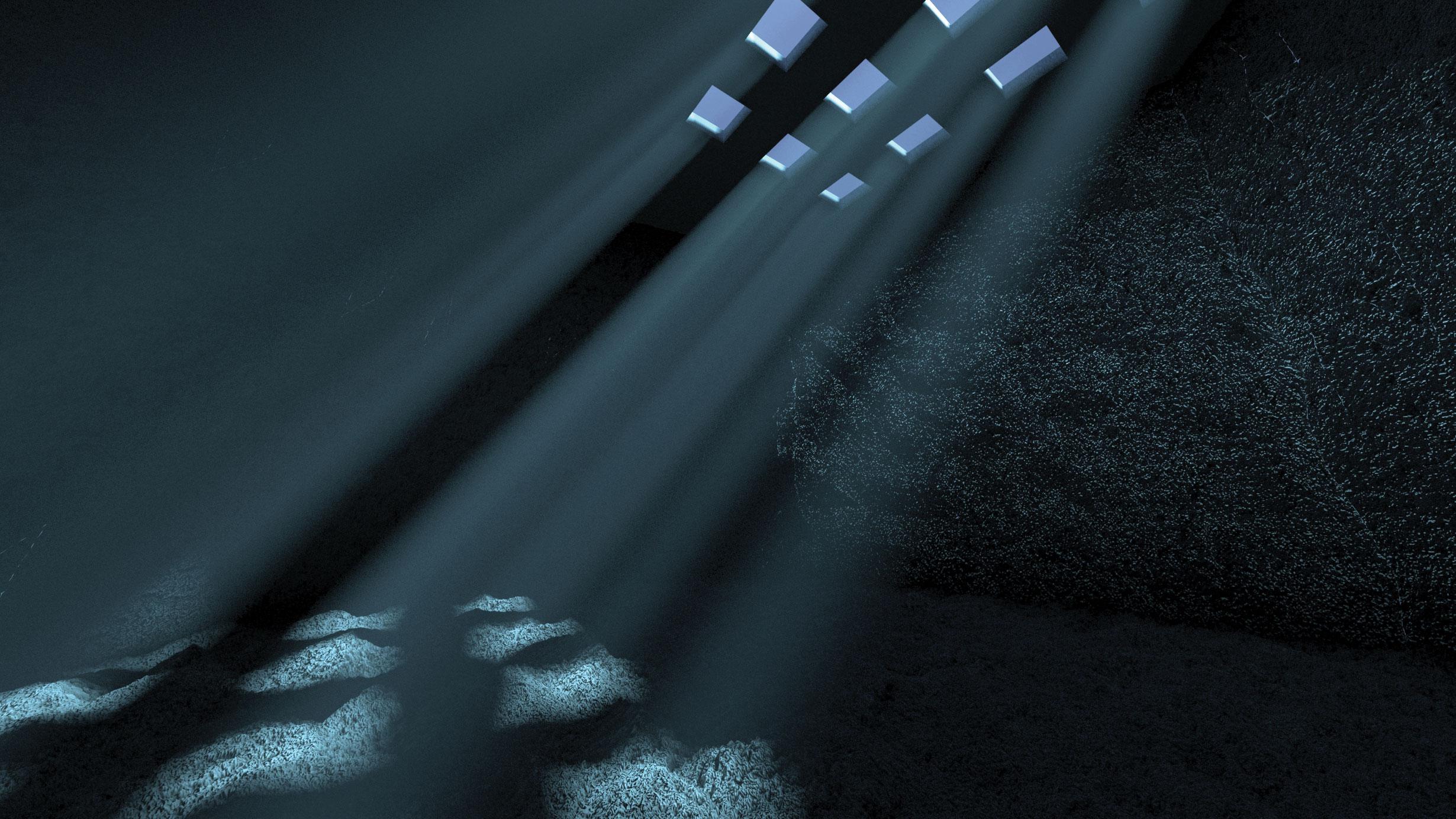 Create god rays in V-Ray