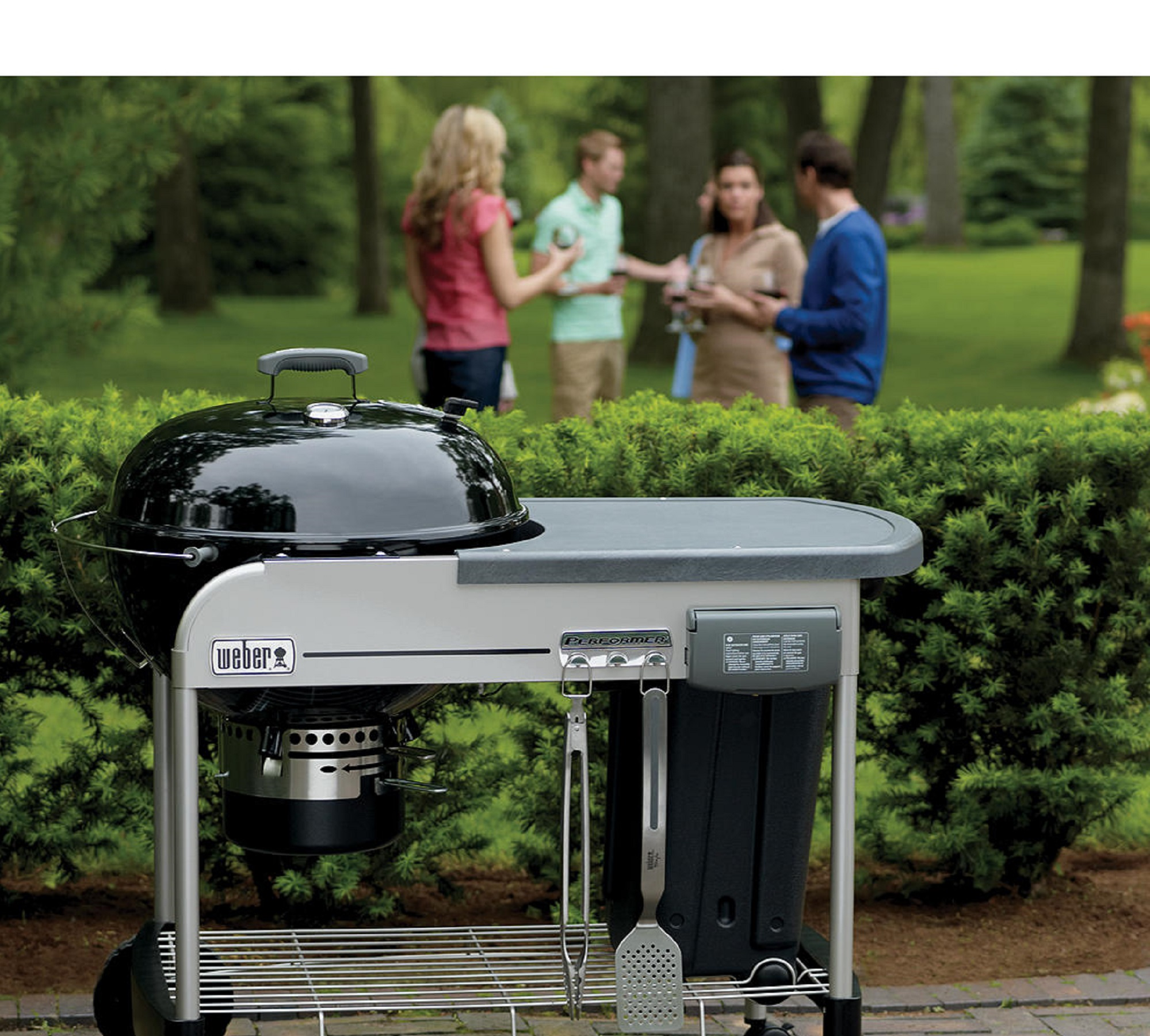 3 in 1 BBQ Charcoal Grill Barbecue Smoker Outdoor Garden Party Cooking Grill