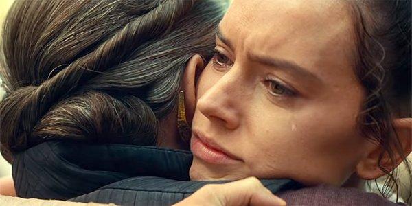 Star Wars Episode IX The Rise of Skywalker trailer shot Leia Rey