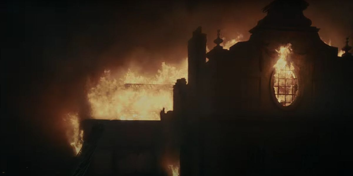 Hell Hall on fire