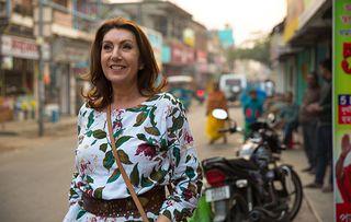 Jane McDonald on the streets of Murshidabad