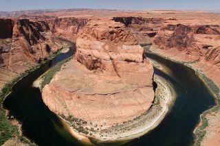 Horseshoe Bend in the Glen Canyon.