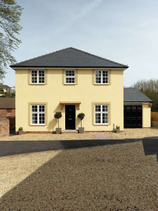Rendered self build in Worcestershire