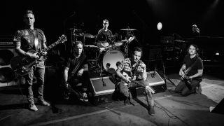 Pearl Jam band members (from left) Mike McCready, Jeff Ament, Matt Cameron, Eddie Vedder, Stone Gossard and Boom Gaspar.