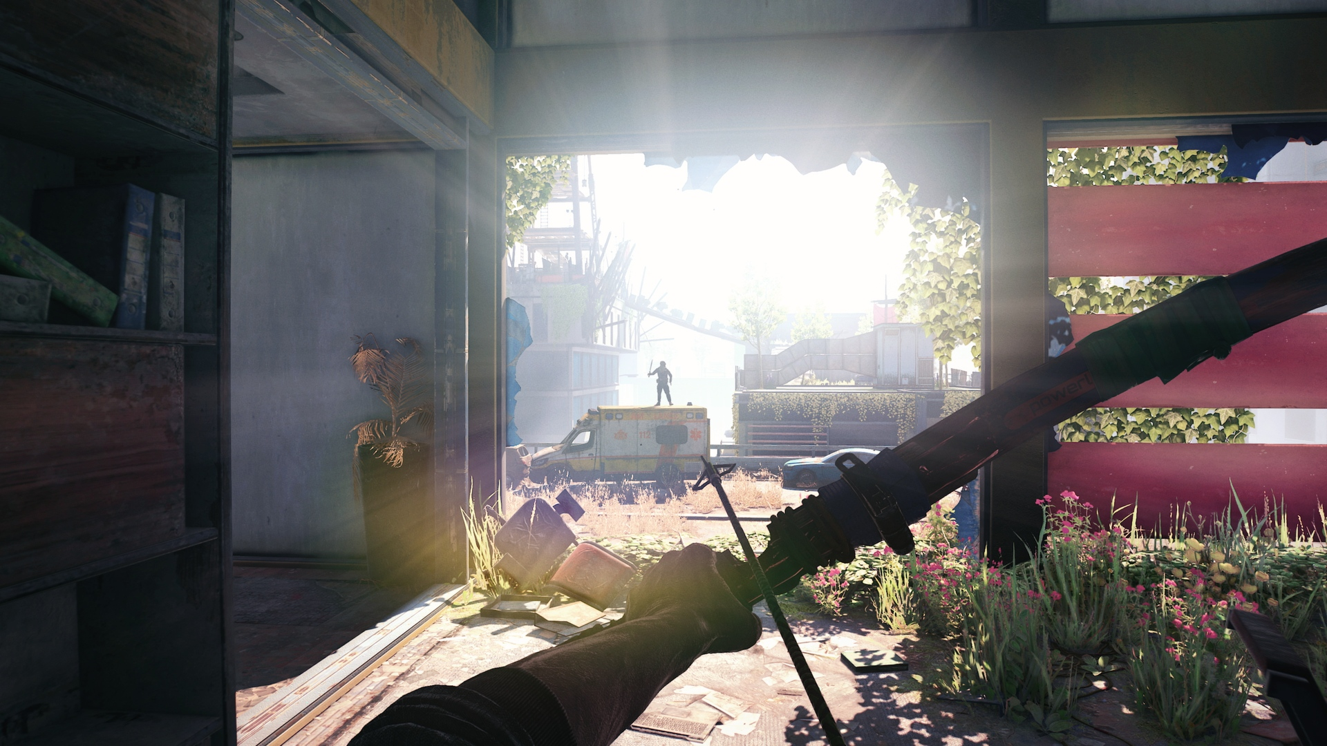 The protagonist wields a crossbow in Dying Light 2