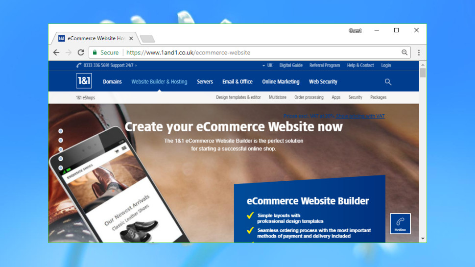 1&1 IONOS eCommerce Website Builder/Online Shop